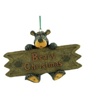 WILLIE BEARY CHRISTMAS ORNAMENT 12/BX  4.5 in. x 3 in.