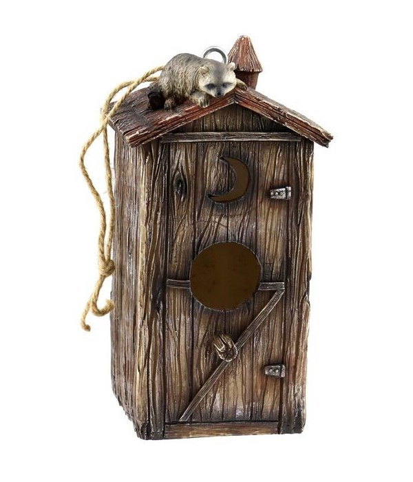 BIRD HOUSE OUTHOUSE 9 in. x 5 in. x 5 in.