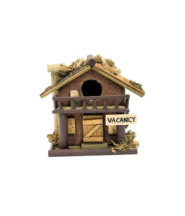 BIRD HOUSE LOG MINI ASST 5 in. T