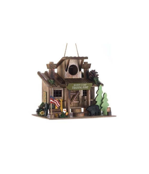 BIRDHOUSE SCOUT TRADING POST 10.25 in. x 7.75 in. x 9.75