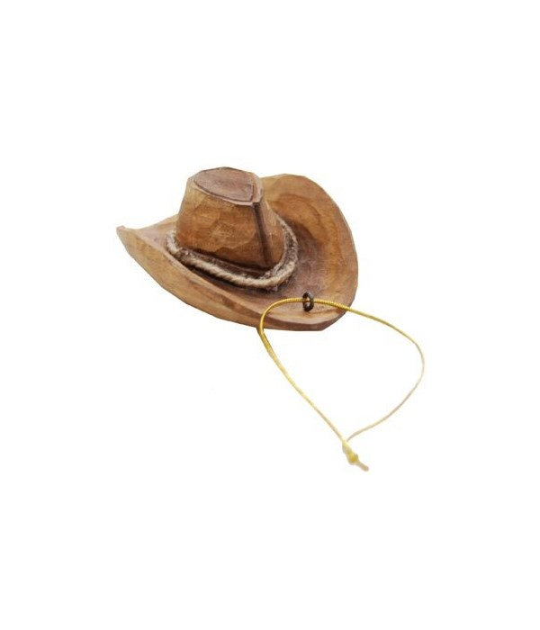 WESTERN HAT ORNAMENT CARVED 12/BX