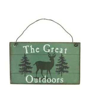 ORNAMENT DEER SIGN 12/BX 3 in. x 2.5 in.