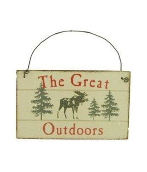 ORNAMENT OUTDOORS MOOSE 12/BX 3 in. x 2.5 in.
