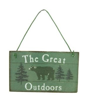 ORNAMENT BEAR SIGN 12/BX 3 in. x 2.5 in.
