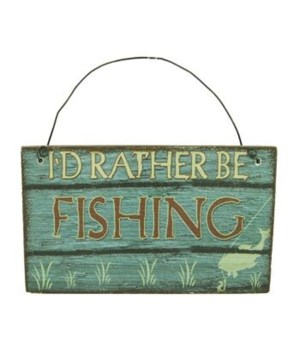 ORNAMENT FISHING SIGN 12/BX 3 in. x 2.5 in.
