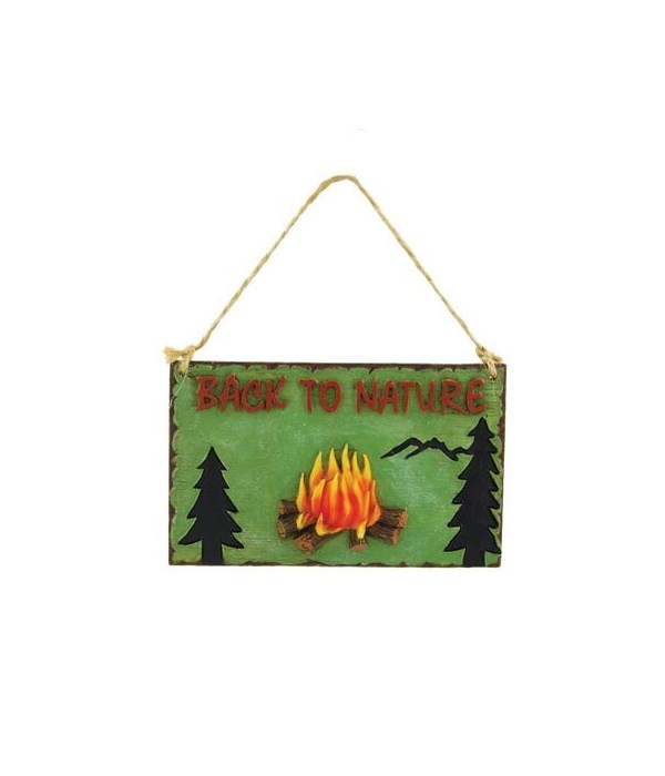MINI SIGN BACK TO NATURE 6/BX 4 in. x 3 in.