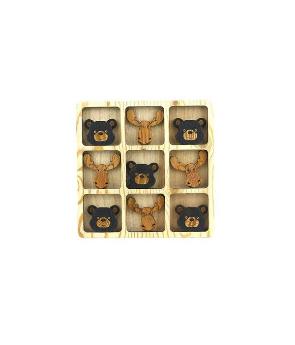 TIC TAC TOE BEAR/MOOSE FACES
