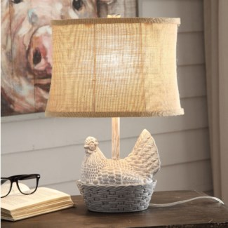 Chicken Basket Table Lamp