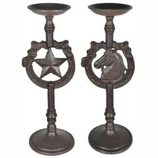 Texas Star Candleholder Set