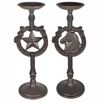 Texas Star Candleholder Set