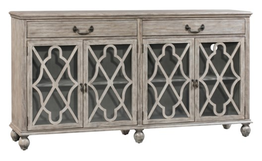 Hawthorne Estate 2 Drawer 4 Door Fretwork Sideboard