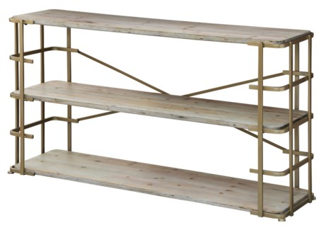 Ava Silver Metal and Driftwood Console