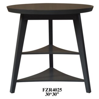 Newcastle Deep Grey Tier Accent Table