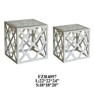 Daulton 2 Pattern Square Nested Tables