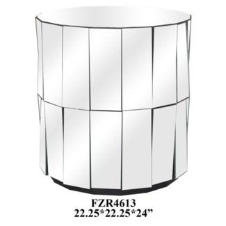 Millenium Round Angled Mirror Accent Table