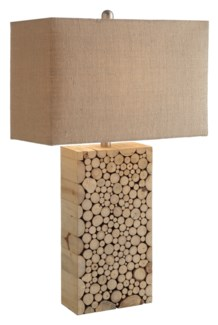 Stacked Wood Table Lamp