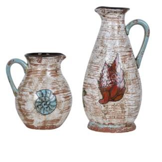 Coastal Shell Vases
