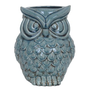 Soft Blue Owl Container