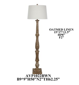 "63.25""TH POLY FLOOR LAMP, 1 PC KD PK/3'"
