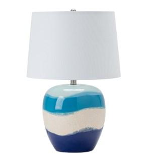 Wave II Glazed Coastal Table Lamp