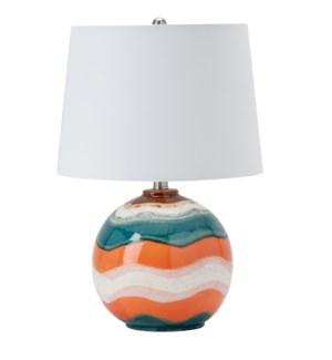 Wave Glazed Coastal Table Lamp
