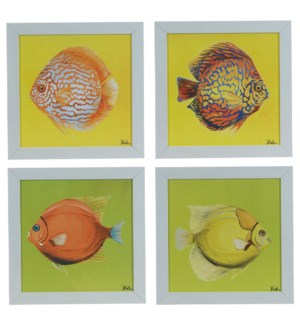 BRIGHT AQUATIC LIFE (SET OF 4)