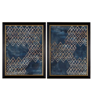 Décor Pattern in Blue 1 & 2