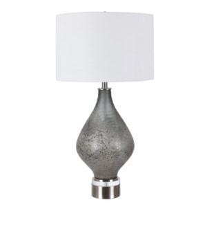 Moody Blown & Carved Glass Table Lamp