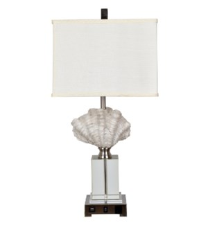 "Crystal Beach Table Lamp 28.5""Ht"