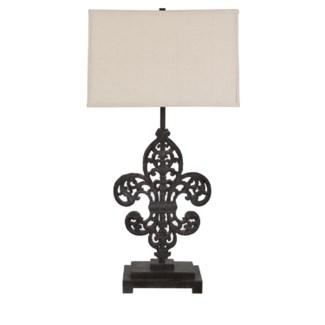 Iron Fleur De Lis Table Lamp