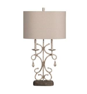 """31.75""""H METAL TABLE LAMP 2PCS UPS PACK 4.38'"""