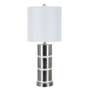 """31""""H METAL + CRYSTAL TABLE LAMP WITH LED NIGHTLIGHT. 1PCS UPS PACK 2.82'"""