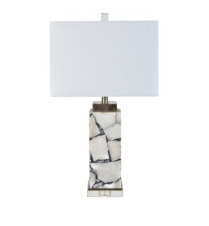 """""""28.25""""""""H ALABASTER WITH CRYSTAL BASE TABLE LAMP WITH NIGHLIGH  2PCS UPS 2.92'"""""""