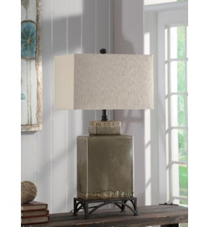 """Tuscan Pottery Table Lamp 34""""Ht"""