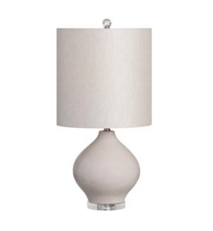 """23.5""""H CERAMIC TABLE LAMP 1PCS UPS PACK 1.58'"""