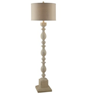 Wood Post Floor Lamp