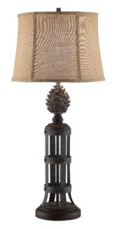 Pinecone Tower Table Lamp