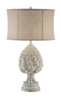 Large Artichoke Finial Table Lamp