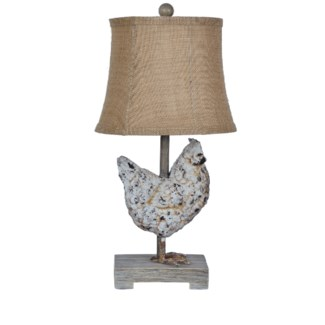 Weathered Chicken Table Lamp