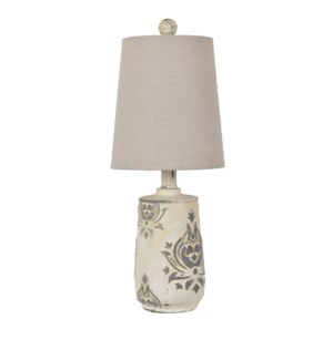 French Damask Accent Lamp