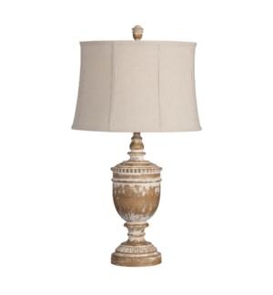 """33.5""""H RESIN TABLE LAMP 2PK/4.8'"""