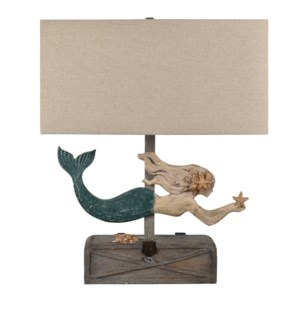 Mermaid Treasure Table Lamp