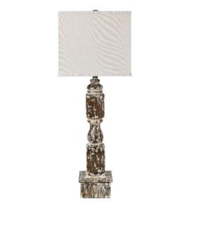 Weathered Post Table Lamp