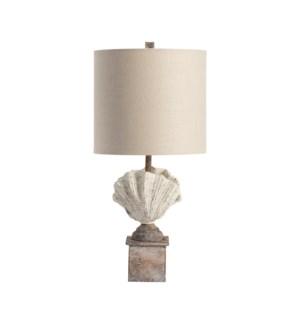 Coastal Shell Finial Table Lamp