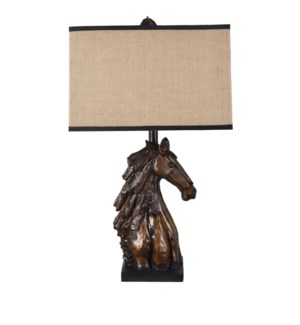 Horse Bust Table Lamp