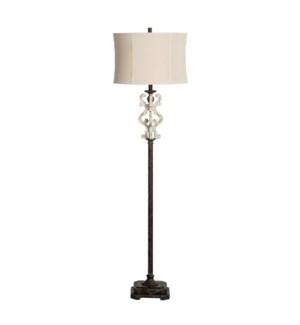 """64""""H Mariposa Corner Floor Lamp 1pcs UPS pack 4.7'"""