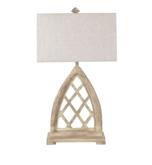 Weeks Cathedral Window Frame Table Lamp