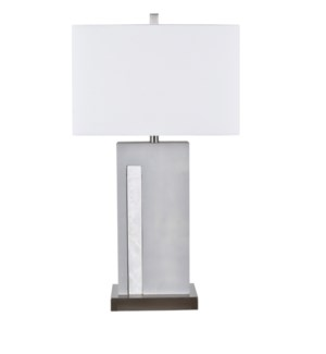 Sai Troweled Cement Block Table Lamp
