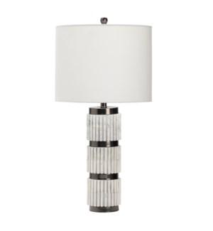 """31.5""""H RESIN TABLE LAMP  1PCS UPS PACK 3.63'"""