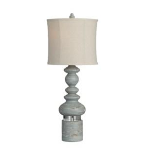 "34.5""H RESIN + CRYSTAL TABLE LAMP 2PCS UPS PACK 5.6'"